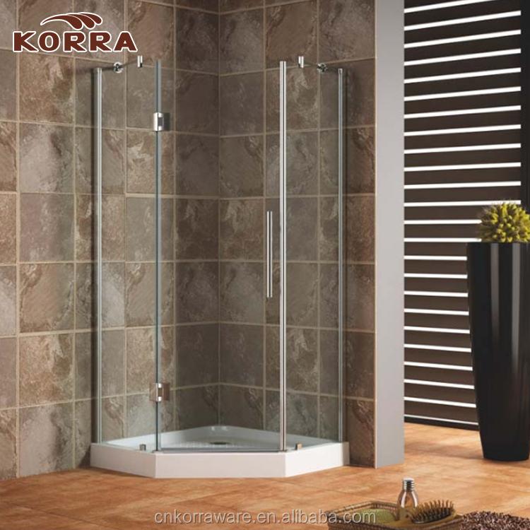 Neo-angle Frameless Shower Enclosure,Bathroom Diamond 8mm Thick ...