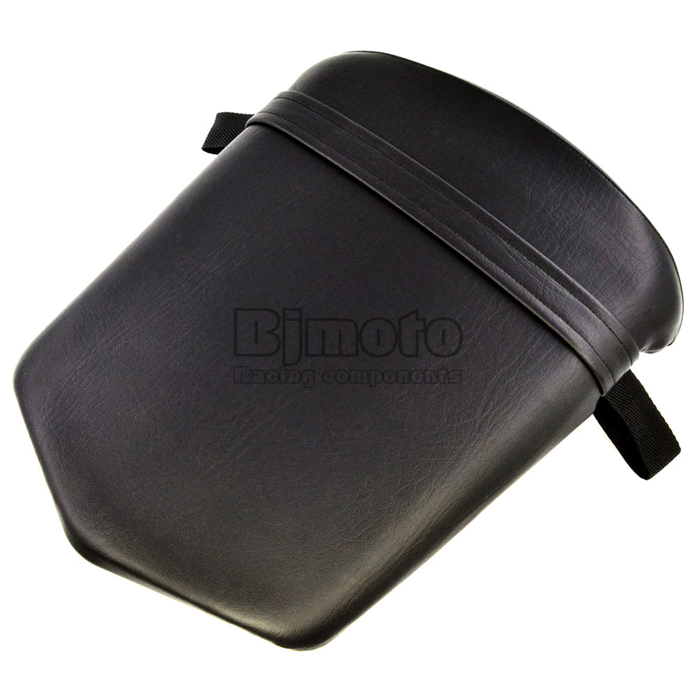 Black Seat Cover For Yamaha YZF 1000 R1 2000 2001 Seat Vintage Leather Motorcycle Rear Passenger Seat Cushion Pillion