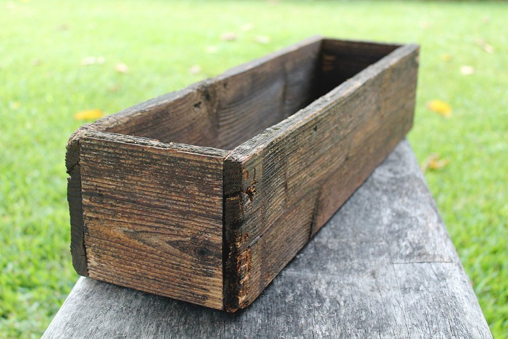"24"" Rustic Planters Box (3.25-3.75""T - Short Version)"