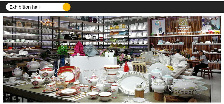 porcelain factory yellow color design tableware colorful dinner set bone china dinner set