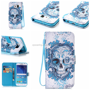 Fashion Printed Wallet leather case for Samsung Galaxy S4 S5 S6 S6 edge