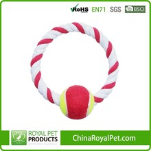 Perfect Cotton O model rope dog pet toy with tennis ball