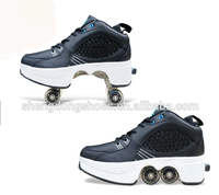 New model fashion roller shoes with retractable wheels factory