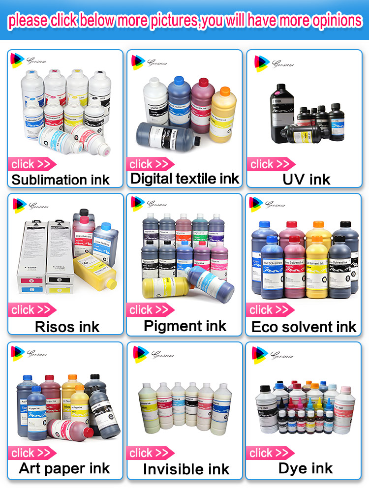 1Liter bottle art paper ink for epson L1300 printer