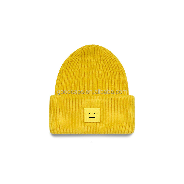 4f5b4ca3973 customized beanies caps and hats winter applique embroidery logo knitted  hats keep warm cap