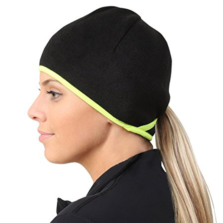 639670c9540 Winter Fashion Ponytail Hole Running Beanie Hats Cycling Cap Fleece Thermal  Helmet Liner Skull Caps with