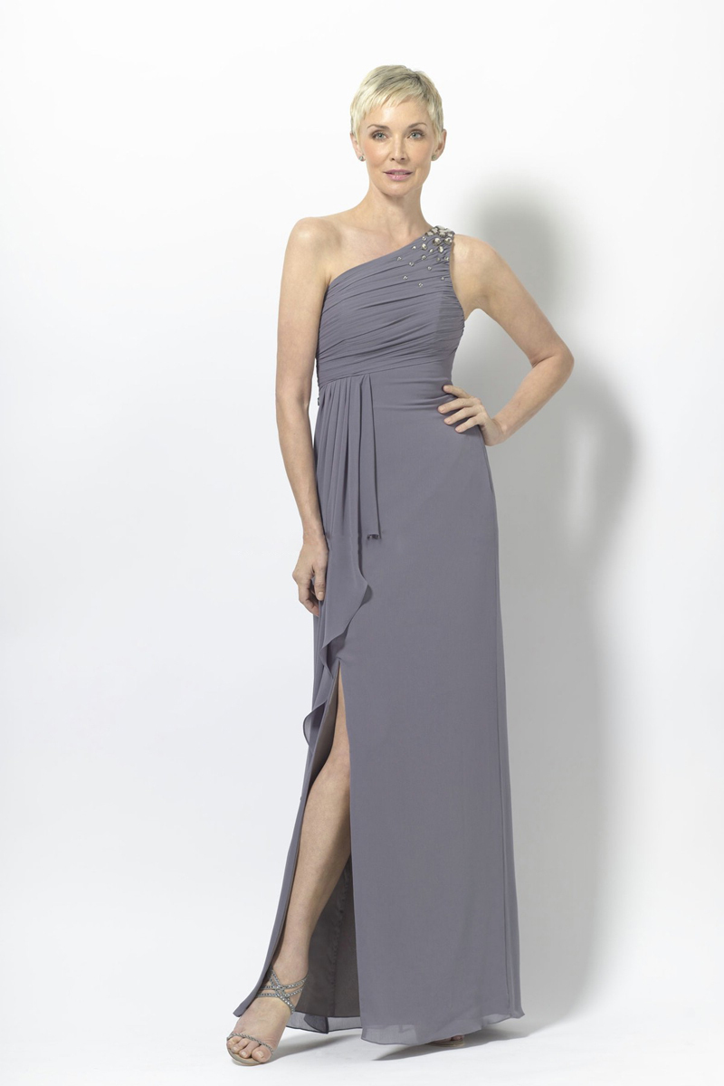 bdfc362b260 Get Quotations · New Arrival 2014 Crystals Brides Mothers Dresses For  Wedding Chiffon One Shoulder Sexy Split Mother of