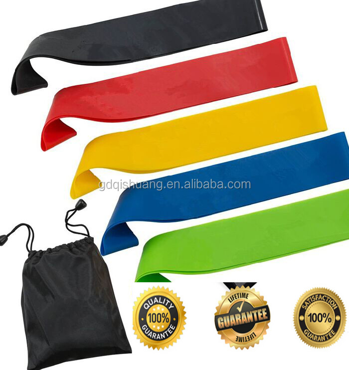resistance loop bands Flat Exercise Strength Bands will not break and will last for a long time