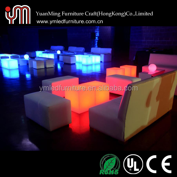 Led Mood Lights Cube Chairs,light Up Furniture Cube