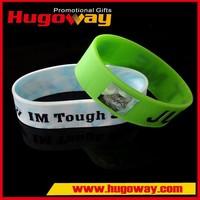christmas gift custom wrist band silicon rubber