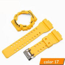 Силиконовый ремешок для Casio GA-110 GA100 GD-120 высококачественный резиновый ремешок для часов с чехлом для часов для мужчин женские часы(China)