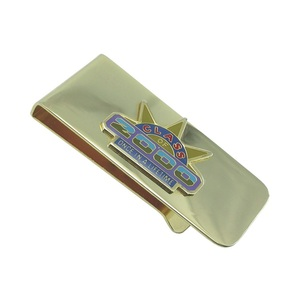 top quality promotional novelty paper brass metal gold money clip