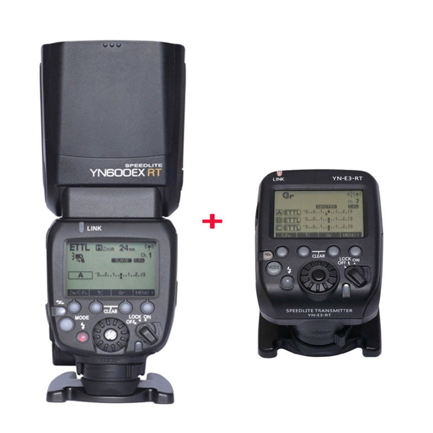 NEW YN600EX-RT Wireless ETTL Master Flash Speedlite + YN-E3-RT Speedlite Transmitter for Canon DSLR Camera