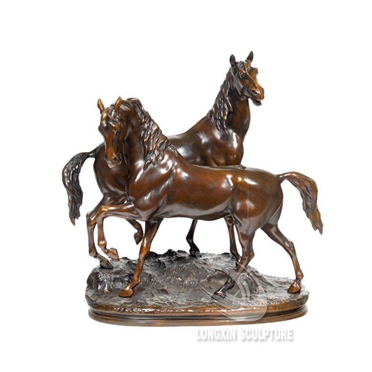 hot sale antique metal craft life size bronze horse statues for garden decor