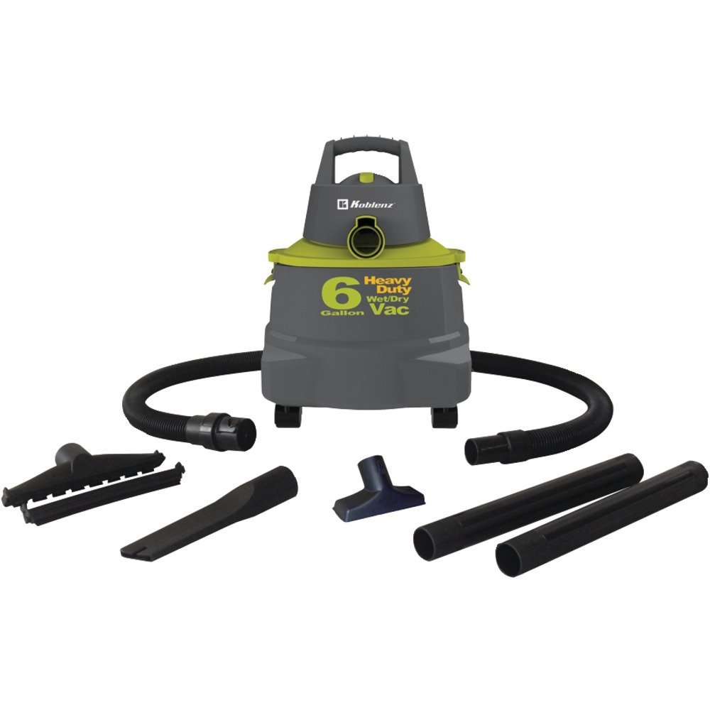 1 - Wet/Dry Vacuum Cleaner with 6-Gallon Tank, Heavy-duty, high-impact construction, 6gal tank capacity, WD-6K