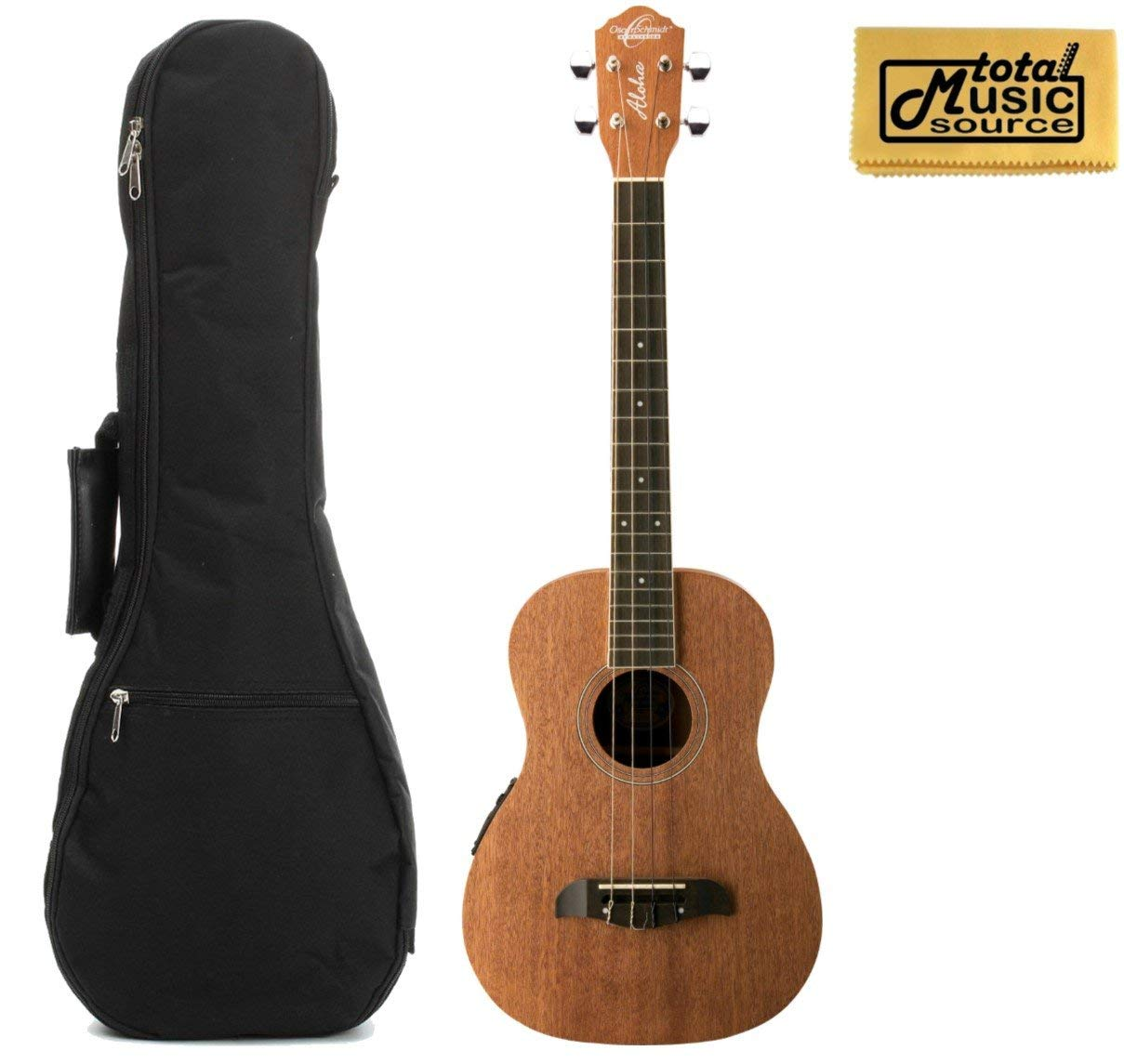 Oscar Schmidt OU52E Acoustic/Electric Baritone Ukulele w/ EQ, Padded Gigbag & PC