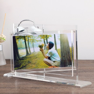 Rotating combination frame acrylic crystal transparent personality creative wedding picture frame for children customized