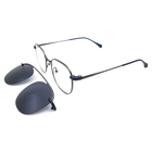 stainless steel magnetic optical glasses clipon frame eyewear with tr90 clips