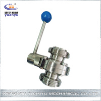 Manufacturer Wholesale First Choice Easy To Use Aluminum Sanitary Butterfly Valve