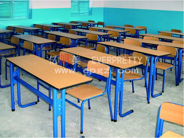 Classical Double Classroom Table And Chairs Of School Furniture ...