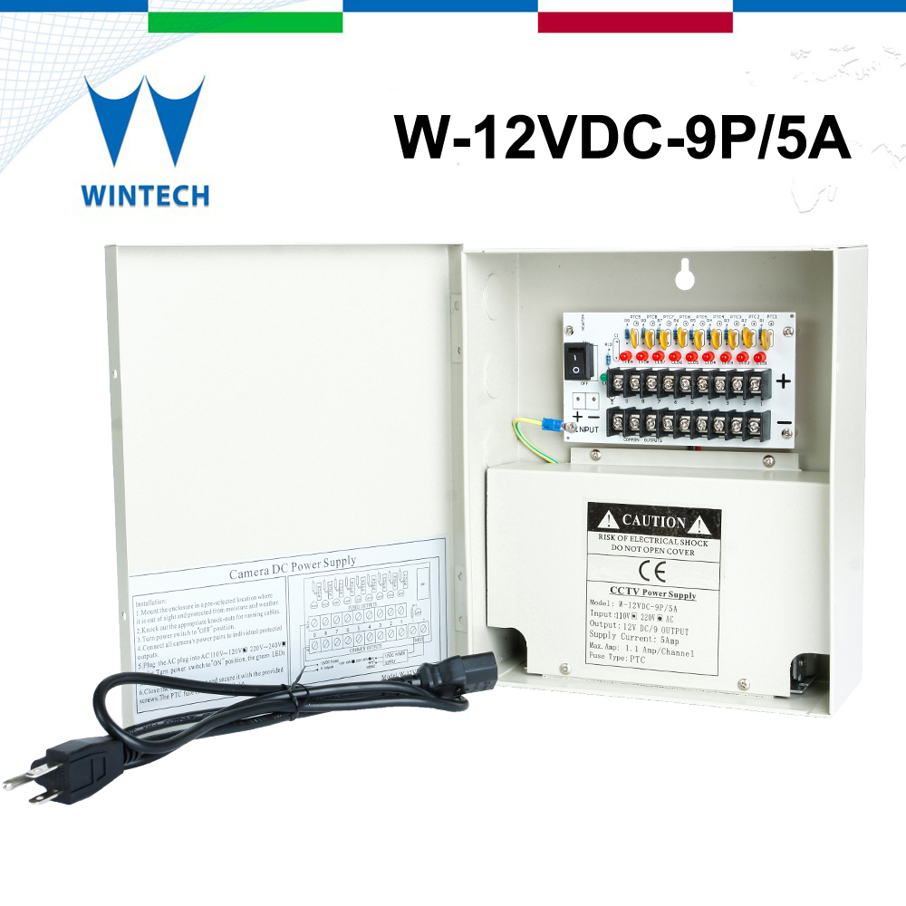 12v dc 5a switching mode cctv power supply
