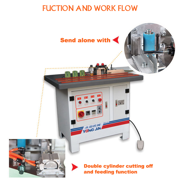 Manual small curve mdf pvc ce edge banding machine for sale