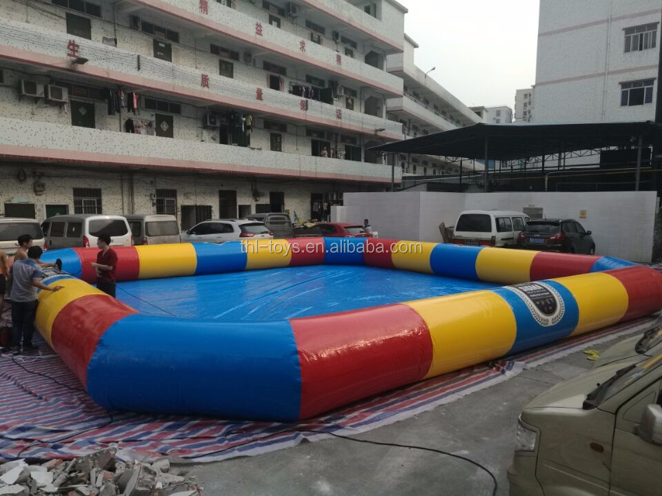 factory price customized inflatable pool for sale/huge outdoor inflatable pool for kids and adult