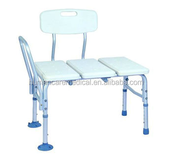 Newly aluminum transfer tub bench with tool free armrest and backrest