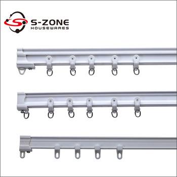 PVC Plastic Double Rail Hospital Ceiling Mount Curtain Track