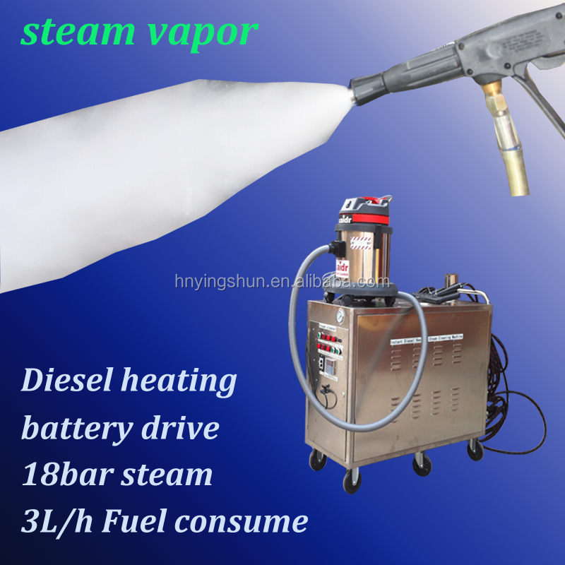 2015 CE 18bar stainless steel portable diesel mobile steam van wash