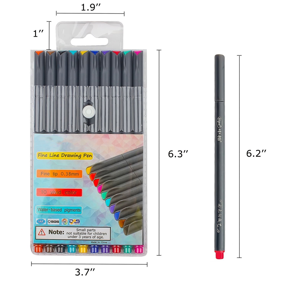 Hot-selling creative colorful fine liner drawing pens,needle drawing needle pen for sketching