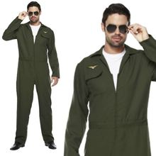 Aviator Kostuum <span class=keywords><strong>Voor</strong></span> <span class=keywords><strong>Mannen</strong></span> Figther Gun Vlucht Pak Top <span class=keywords><strong>Uniform</strong></span> 80 s Fancy Dress Outfit SG352