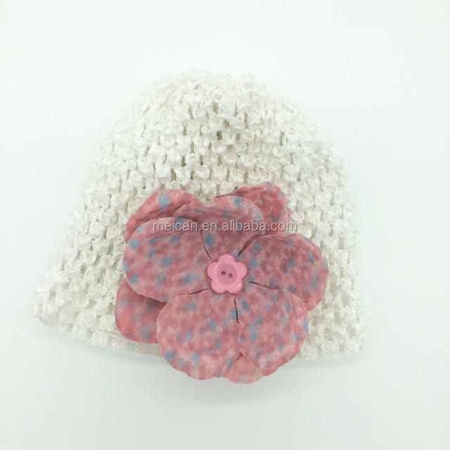 d02c6b649a1 Handmake flower crochet hat hair accessories for baby girls