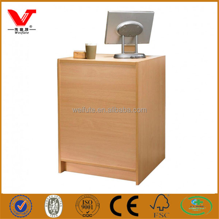 Small Wooden Front Desk Reception Counters Office Salon Furniture