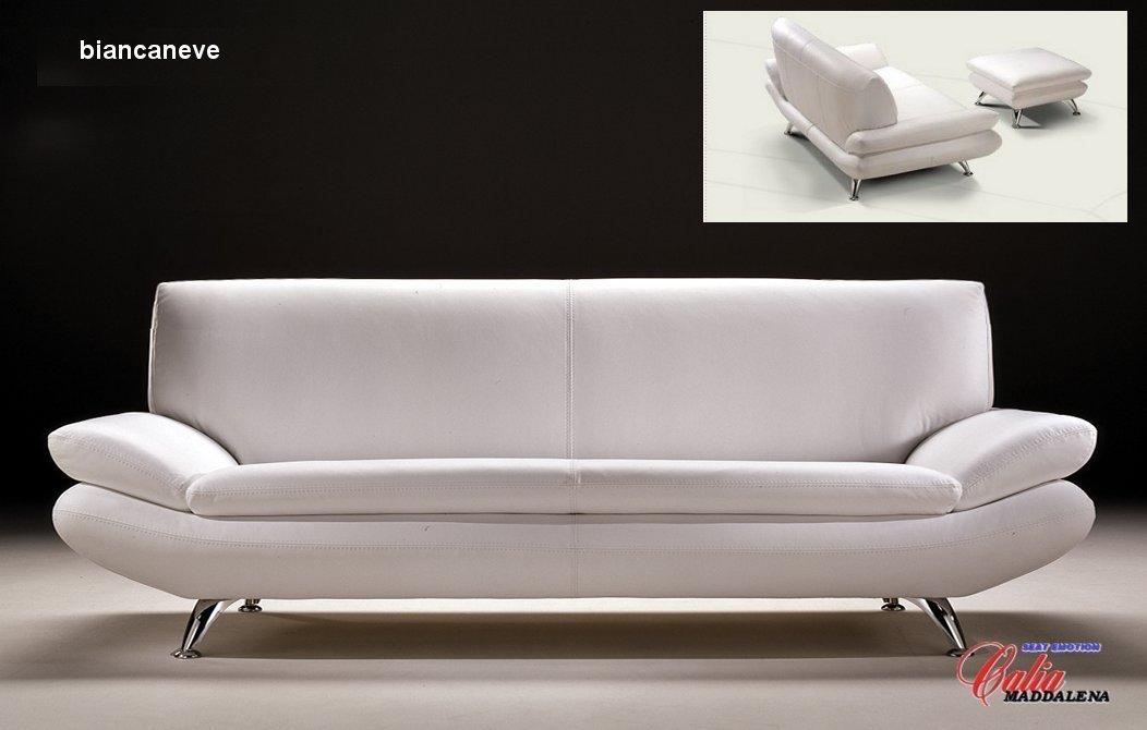 Biancaneve Italian Leather Sofa View