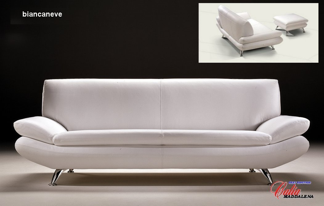 Sofa Italian Leather Gabriel Taupe Italian Leather Modern