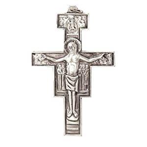 Metal Crucifix. Pope Francis Crucifix. Papa Francesco. Assisi Cross. Metal Franciscan Crucifix. San Damiano Cross. 6cms. Franciscan Cross.