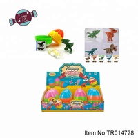 Happy Easter light up surprises egg dinosaur bricks Educational Toys candy for kids