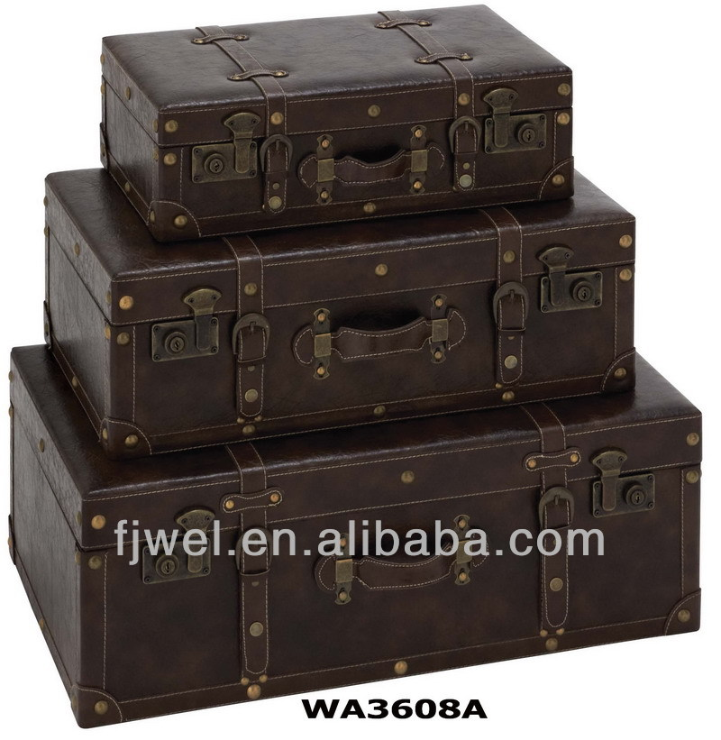 Faux Leather Vintage Suitcase, Faux Leather Vintage Suitcase ...