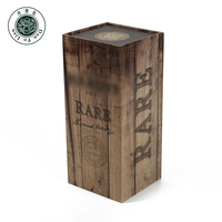 Custom design packaging book shaped paper box for wine custom made wood grain printed champagne bottle boxes