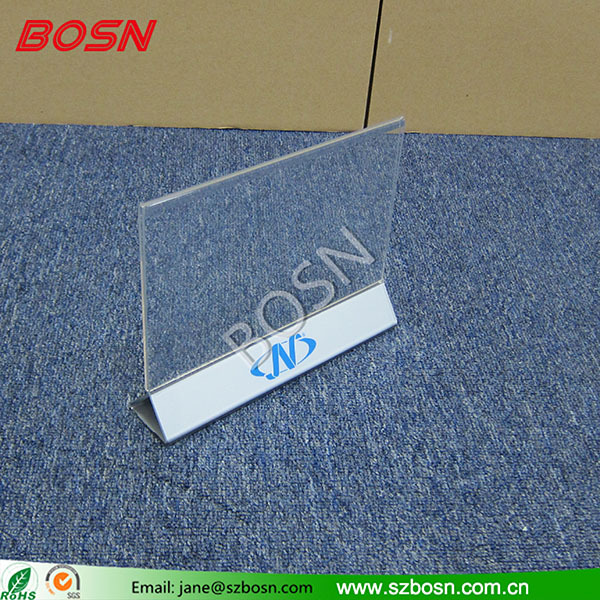 Hot Sell Table Top acrylic menu stand/Perspex menu Holder for Restaurant