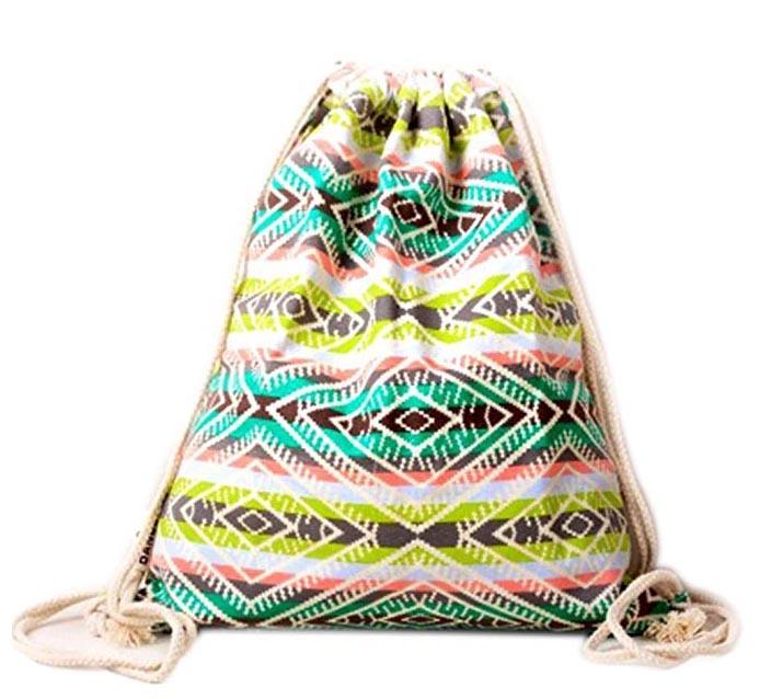 Farway Unisex lienzo bolsa de cord/ón /étnico de Bohemia Mochila Bolsas de compras bolsa