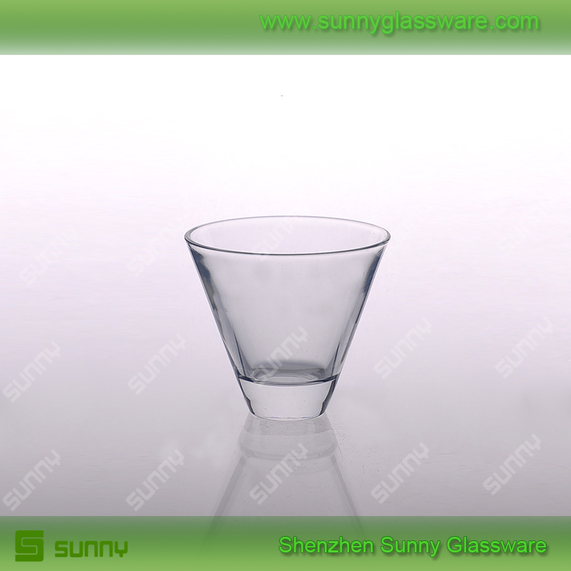 Unique design special V shape whiskey glass for drinking glass