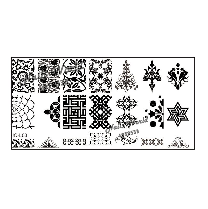 1PC Stencil JQ-L Nail Art Stamping Stamp Image Plates Template for Manicure Birds Long Series JL03