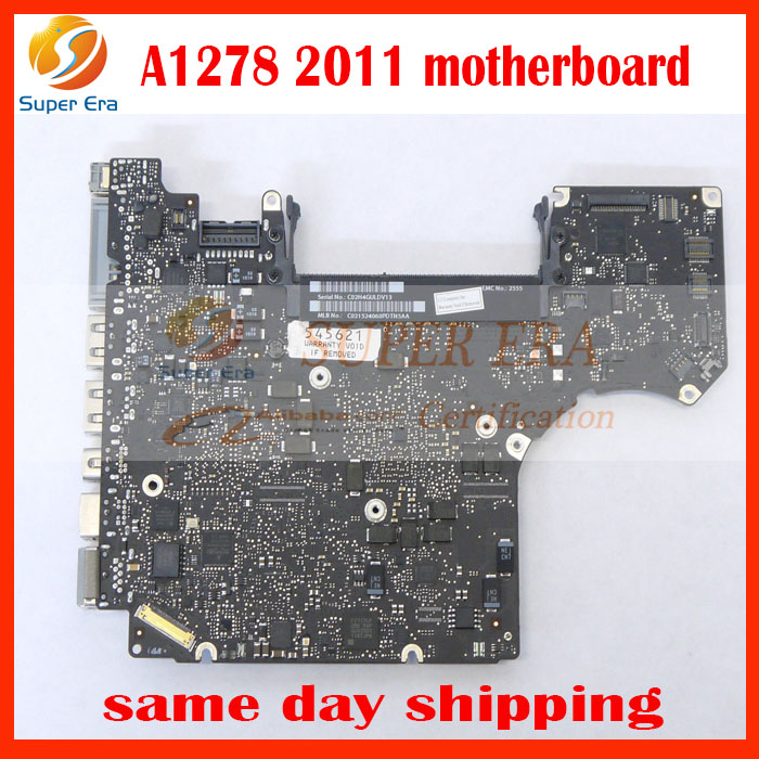 "original motherboard for Apple MacBook Pro 13"" A1278 Intel i5-2415M 2.3GHz Logic Board 820-2936-B 2011year"