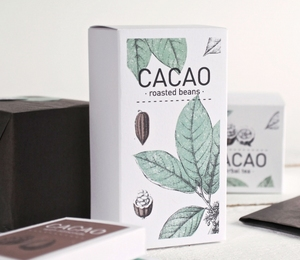 Custom Printed High Quality Card Paper Box For Coffee Beans Roasted Beans Packing Box