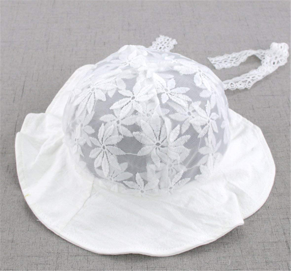 d4aa27f5 Get Quotations · Yeying123 Baby Sun Protection Hat Lace Flower Baby Sun Hat  Baby Sunshade Fisherman Hat,White