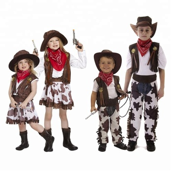 Cowboy Cowgirl Costume Kids Fancy Dress Costumes Party Ce111 Buy