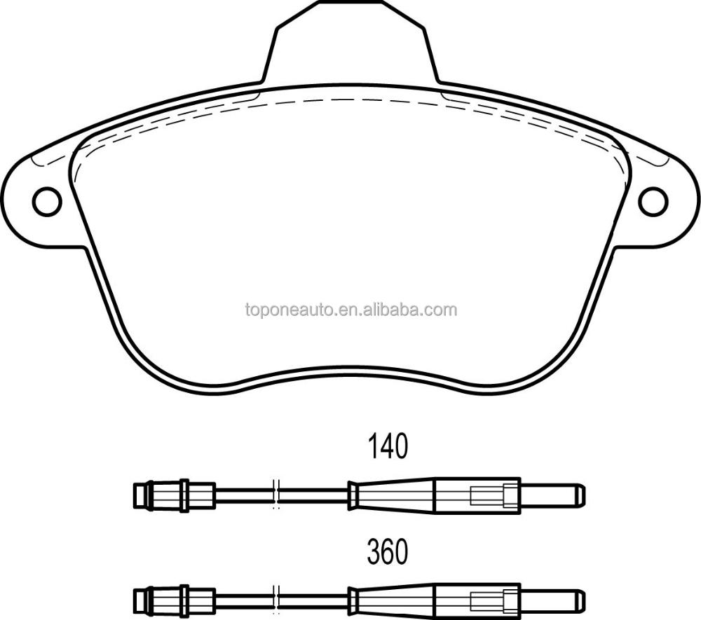 Brake Pad For Peugeot 605 4250.89 D1485