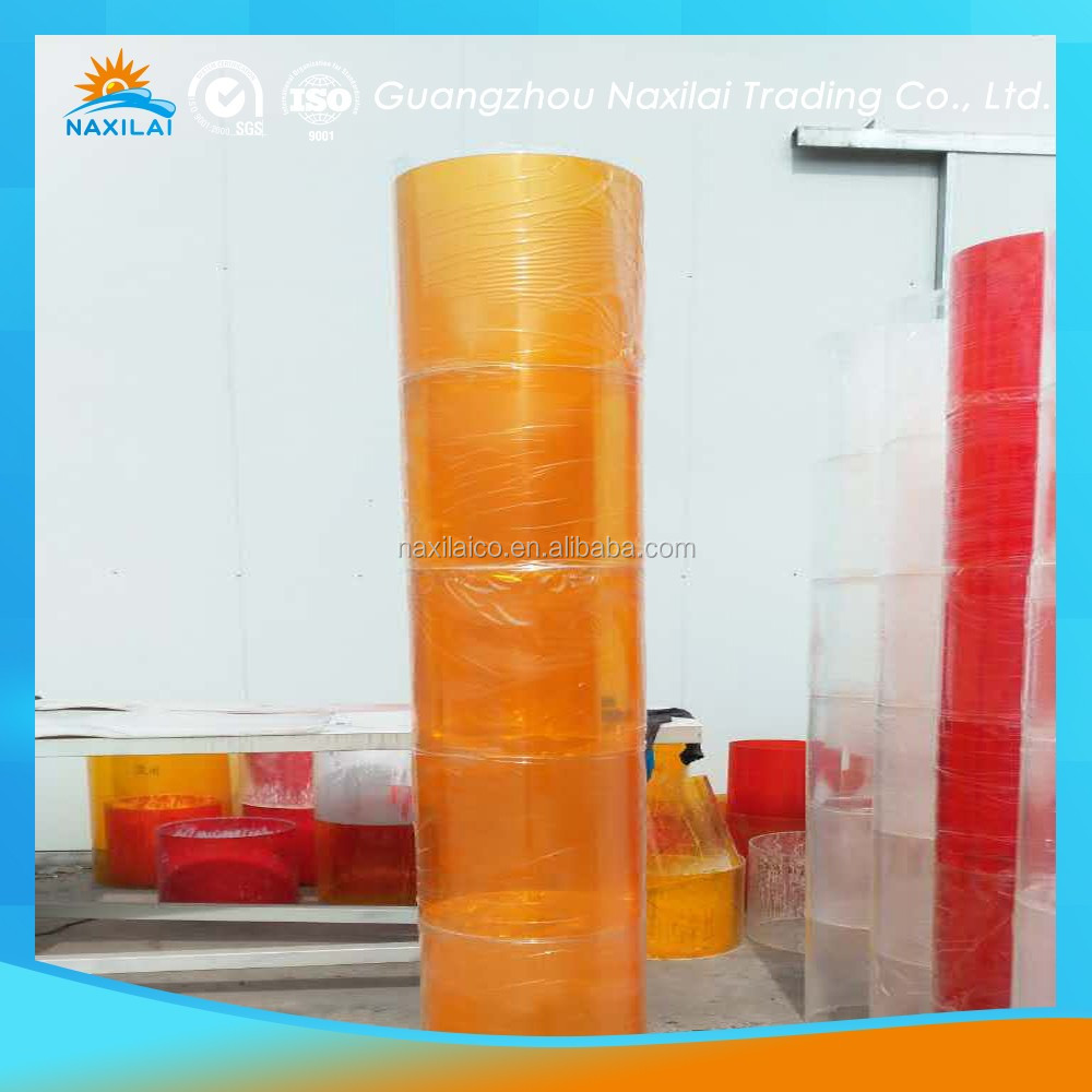4 inch pipe PMMA Material different sizes orange acrylic tube